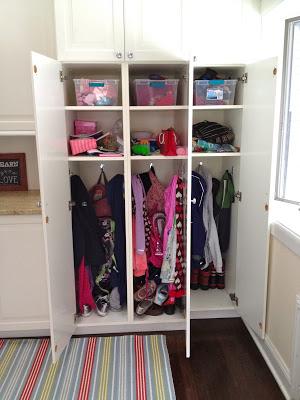 built in mudroom kids locker cubbies
