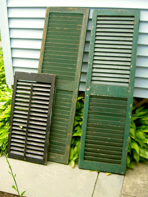 repurposed old shutters