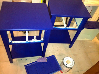 nightstands painted lake blue