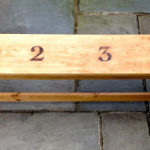DIY Bench with Numbers