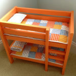DIY Orange Doll Bunk Beds