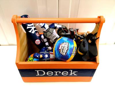 diy wood trug with toys