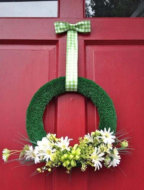 diy artificial turf wreath