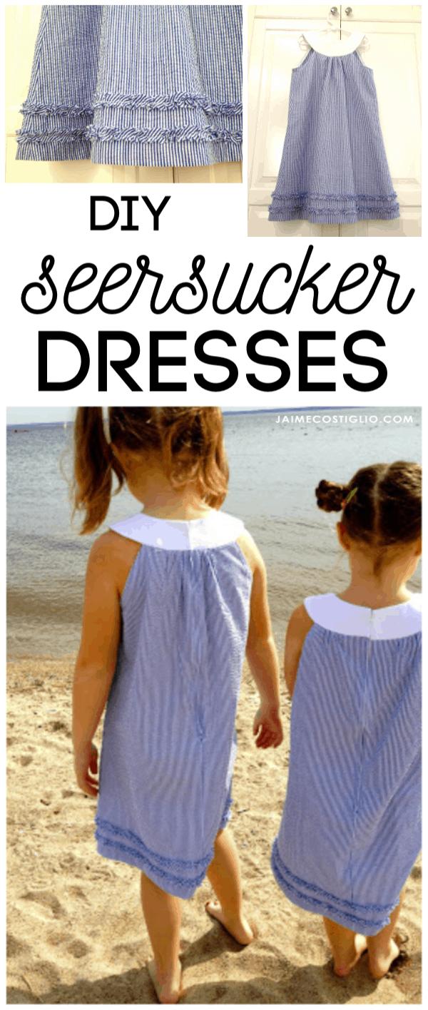diy seersucker dress