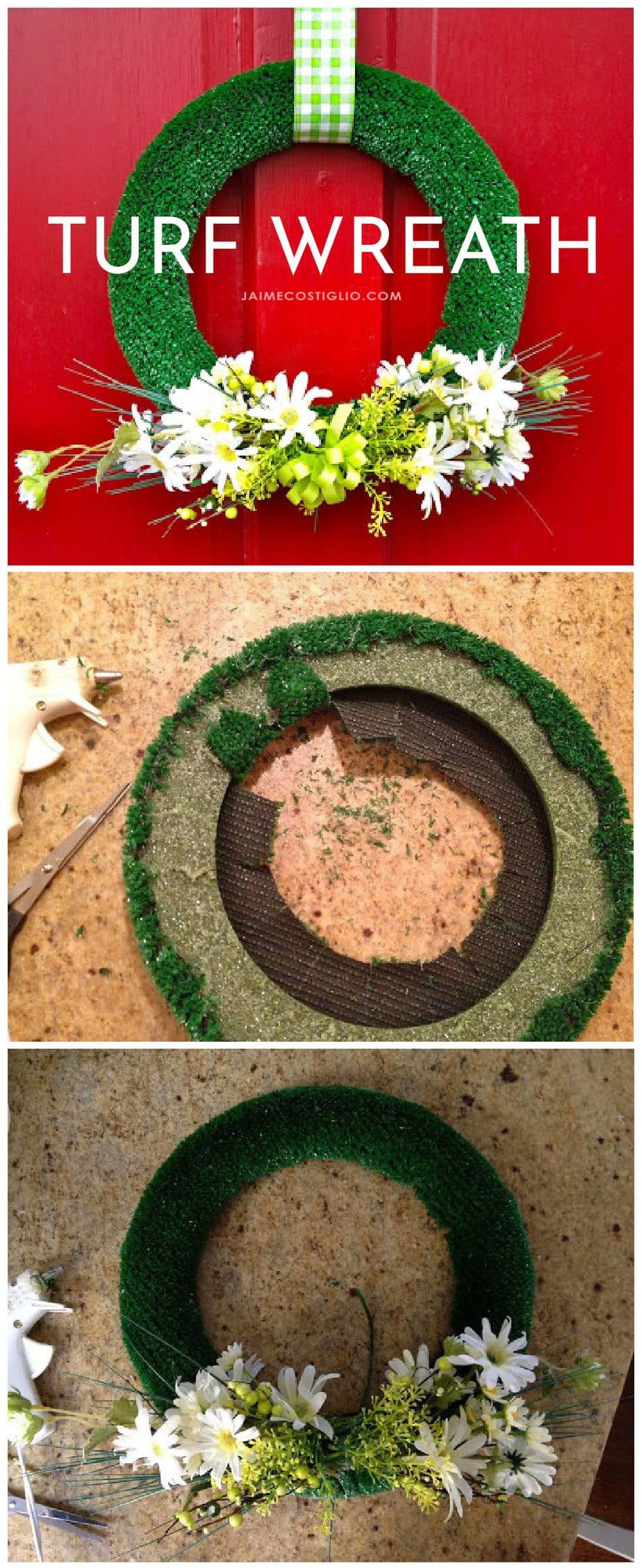 diy turf wreath