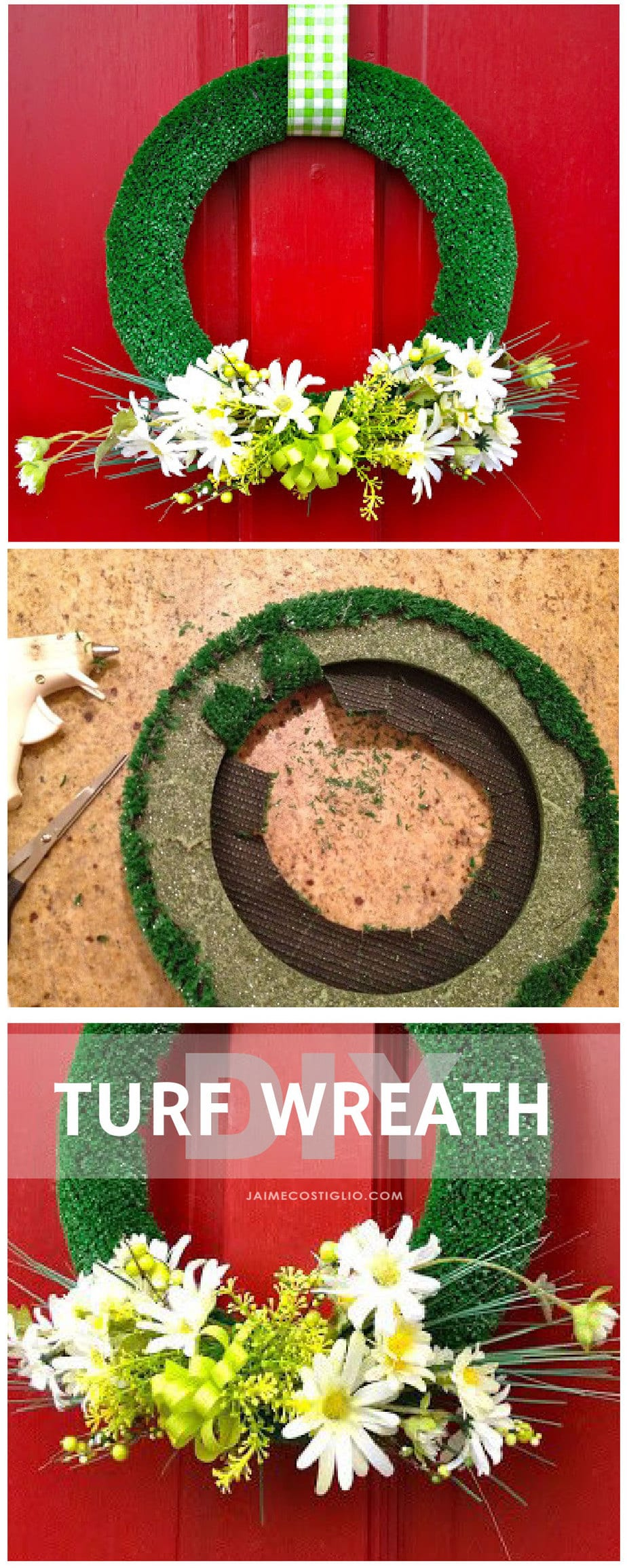 how to make a turf wreath