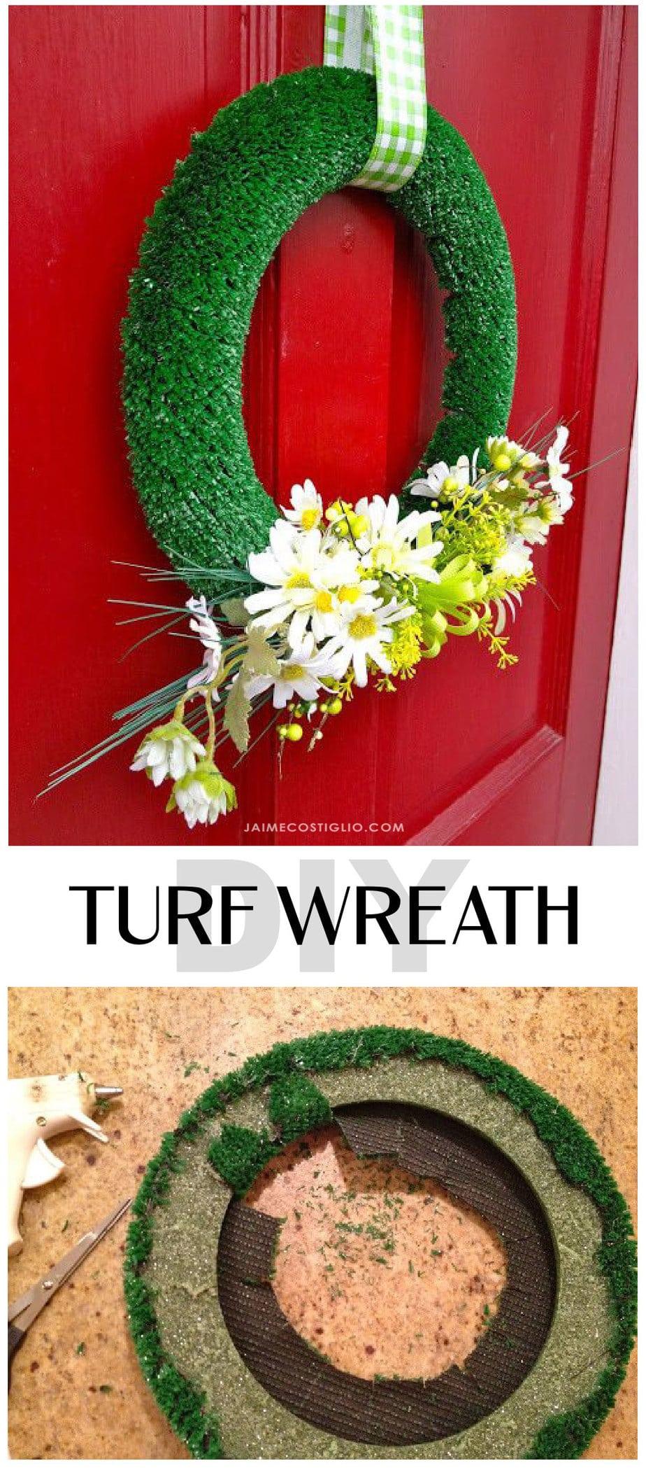 turf wreath tutorial