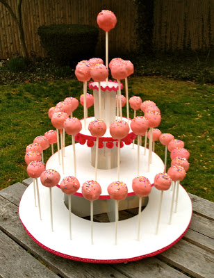 diy cake pop tower