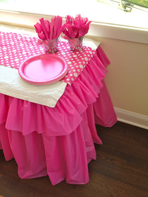 diy ruffled plastic tablecloth