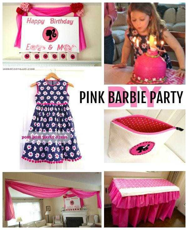 diy pink barbie party ideas