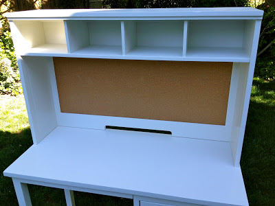 desk refinished with coordinating hutch