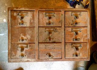 card catalog box