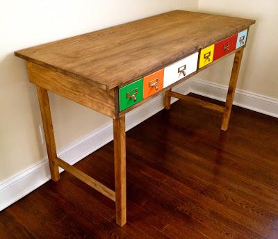 diy kids desk with fun drawers