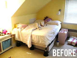 girls bedroom before picture