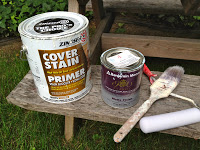 zinsser cover stain primer and benjamin moore paint