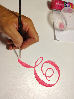 handpainting the monogram