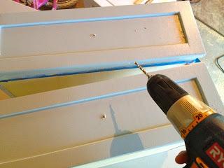 predrill holes for hardware pulls