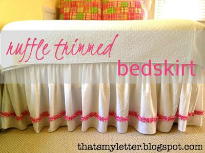 diy ruffle trimmed gathered bedskirt