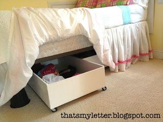 storage bins under bed