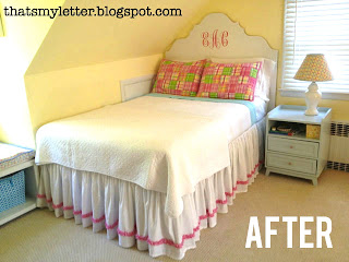 girls bedroom after picture