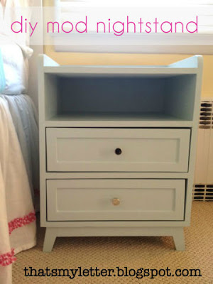 diy mod nightstand with painted finish