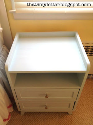 diy mod nightstand with paint