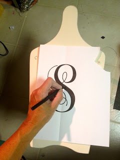 print out monogram and trace