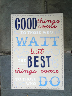 handpainted wood sign with multiple fonts