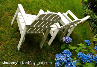 kid sized adirondack chairs painted white