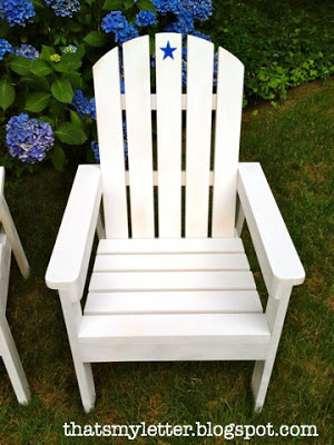 diy adirondack chair outside