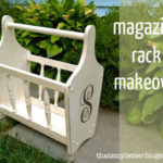 Magazine Rack Makeover