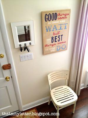 handpainted sign using Pinterest inspiration