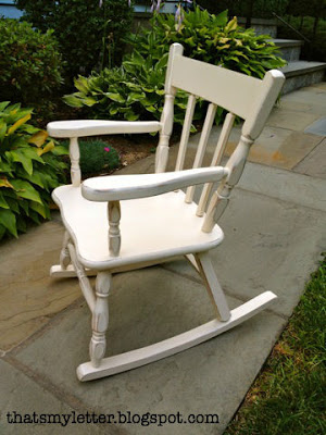 kids rocking chair makeover