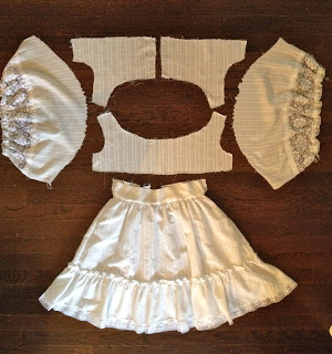 first holy communion dress disassembled
