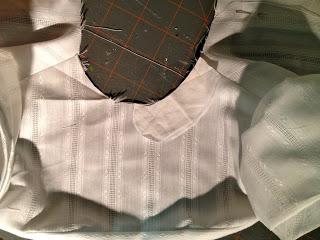 designing collar for new baptism dress
