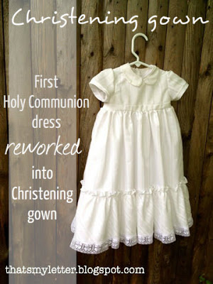 christening gown from holy communion dress