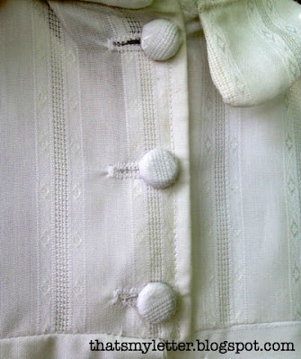 christening gown fabric covered buttons