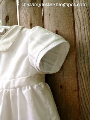 christening gown with short sleeves