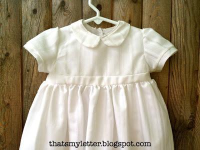diy christening gown detail