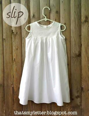 white cotton slip for baptism