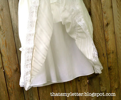 baptism gown with slip