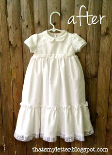 baptism gown after