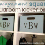 DIY Square Mudroom Bins