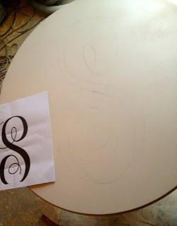sketching giant monogram