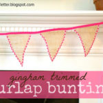 """B"" is for Burlap Bunting"