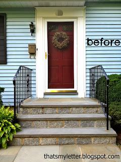 cape style front door before