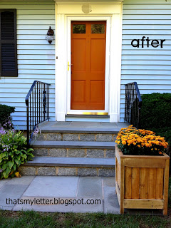 cape style front door after