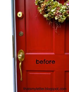 brass door hardware before