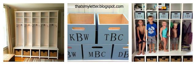 diy locker and bench mudroom cubbies