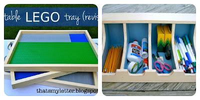 diy portable lego tray and art supplies bin